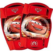 Disney 35521 Cars 2 - Rodilleras y coderas infantiles (4 piezas), color rojo