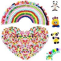 HellDoler Pompones,2000pcs 10mm Crafts Pom Poms Pompones de Cifefrentes Colores para Manualidades y Decoraciones Artesanales