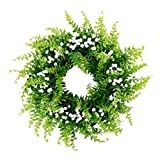 P PRETTYIA Handgemachter Gypsophila Kunstblumen Kranz Dekokranz für Tür Wand Fenster und Garten