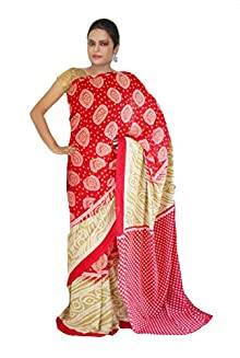cb950a00c77aa Viukart Red Georgette Saree With Blouse Piece For Women