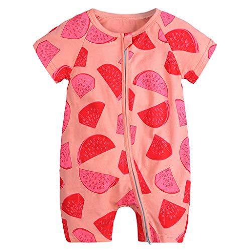 jerferr Softshell Overall Kurzärmliger Body mit Wassermelonendruck (Teddy Bear Kleinkind Kostüm)