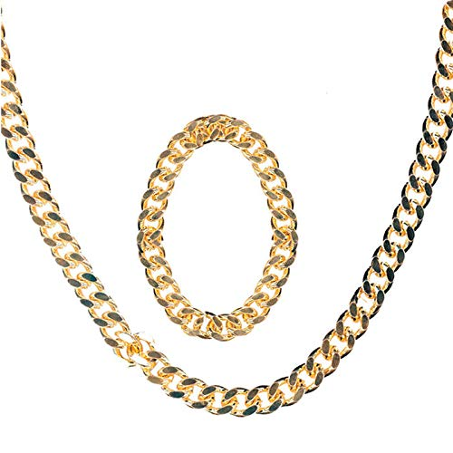 PARTY DISCOUNT Schmuck-Set Rapper, Gold, Kette & Armband