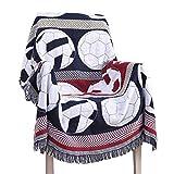YouPuer 130cm*160cm Warme Weich Groß Sofadecke Fußball-Muster Tagesdecke Kuscheldecke Bed Decke