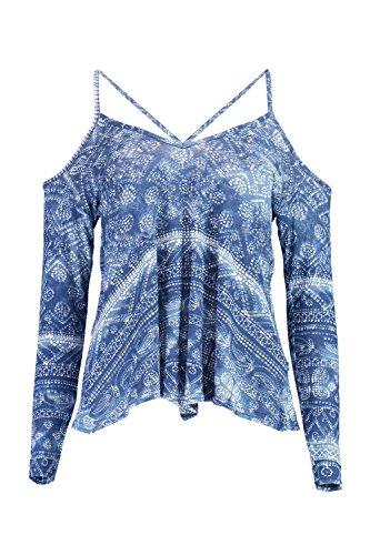 Bleu Femmes Sarah Top Trapèze Imprimé À Bretelles Bleu