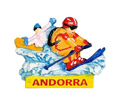 2 X Andorra Esquí Snowboard Pegatina de vinilo Laptop Viaje Equipaje Coche #5123