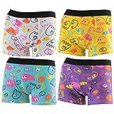 4er Kids Jungen coole, farbenfrohe Boxershorts mit witzigen Figuren, Farbe:mehrfarbig;Größe:6-8 Jahre