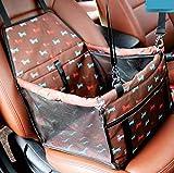 Xueyanwei Car Boot per Cani Pet Carrier Pieghevole Cane Cassa con Mesh Traspirante E Impermeabile Tessuto Doppio Strato 40 * 30 * 25 Centimetri Addensare Versione,Brown