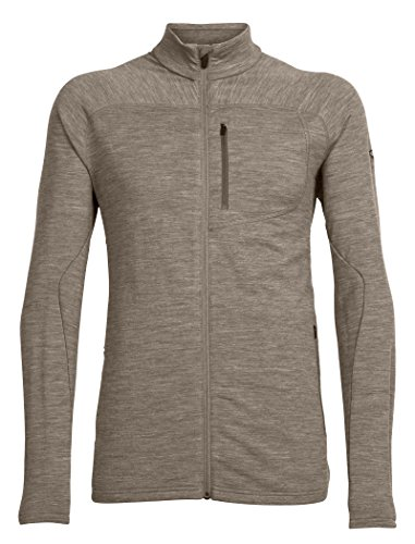 Icebreaker Herren MT Elliot Long Sleeve Zip Mid Schichten Größe L Trail Heather Long Sleeve Full Zip Fleece