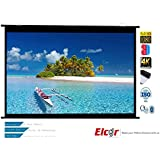 "Elcor Map Type Projector Screens 4ft.x6ft.-84"" Diagonal In 4:03 Aspect Ratio, Ultra HD, Active 3D, and HDR Ready"