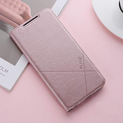 Bubunix Coque Compatible avec HuaWeiHonor8,Housse en Cuir Premium PU Flip Case Etui Portefeuille Etui Coque pour Huawei Honor 8 (Rose Golden)