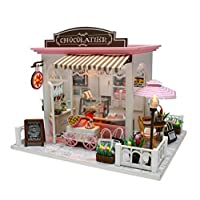 DollLabs Miniature Dollhouse, DIY Mini House Kit with Led Lights and Furniture for Gift Set (Coca's Fantastic Ideas)…