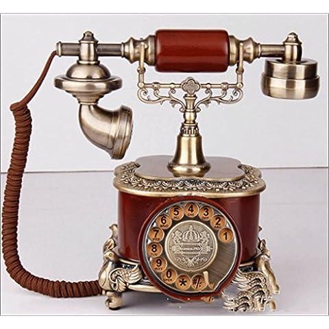 25 * 22 * 26 cm resina creativo complesso quadrante rotante classico telefono, antico telefono fisso di ornamenti decorativi