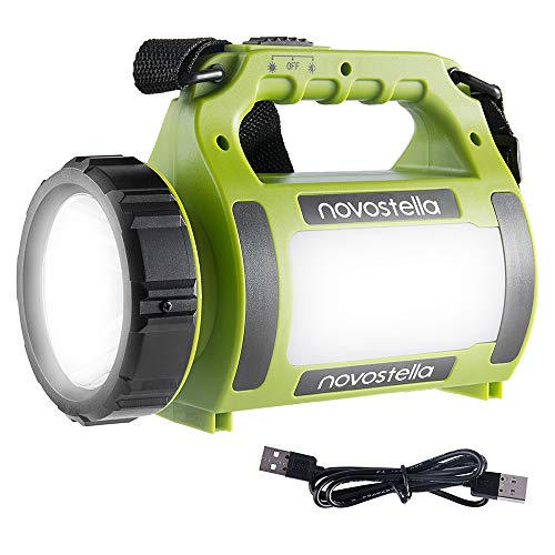 Novostella Lampe Torche LED Rechargeable Etanche, CREE LED 3 en 1 Puissante, Lampe Camping...
