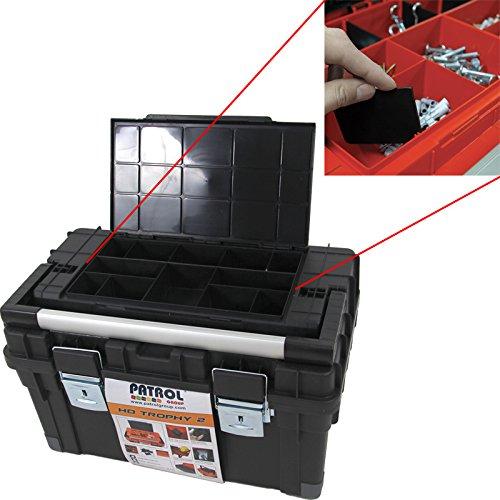 Kunststoff Werkzeugkoffer HD Box Trophy 2 Plus, 80×35,5cm Kasten Werzeugkiste Sortimentskasten Werkzeugkasten Anglerkoffer - 4