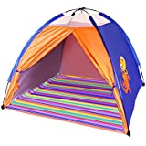 Children's colourful beach tent with UV Protection and bag - easy to put away simply roll up
