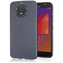 Motorola Moto G6/G5S Cover,Custodia Bee soft carbon per Motorola Moto G6/G5S di Xiu7, design ultrasottile e leggero-Nero