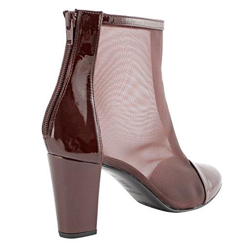 Exclusif Paris  Exclusif Paris Naemi, Chaussures femme Bottines femme,  Damen Stiefel & Stiefeletten Rot - Bordeaux