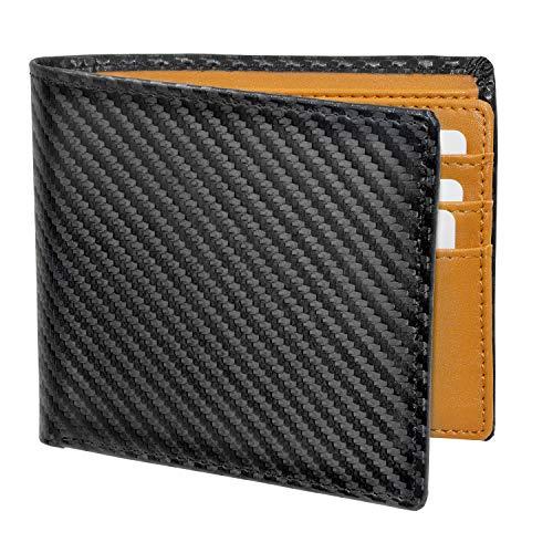 Pacrate Leder Geldbeutel Männer RFID Schutz | Münzfach Geldbeutel Herren Portmonaise Kompakte Portemonnaie Brieftasche Männer