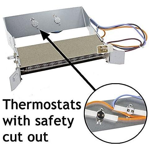 Spares2go Heizelement + Thermostat für Hotpoint TM560 TVM562 TVM570 & amp; TVM572 Serie Wäschetrockner (2300W)