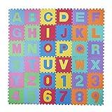 Baby Vivo Eva-Spielteppich für Kinder 190 x 190 cm mit Buchstaben und Nommen