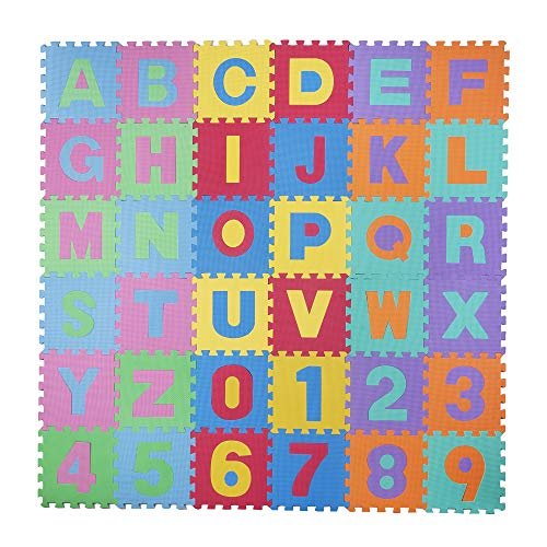 Mother & Kids Baby Gyms & Playmats Energetic 36 Pcs Per Set New Eva Childrens Puzzle Mat Digital Letter Educational Foam Mat Cold-proof Environmentally Friendly Baby Crawl Special Summer Sale