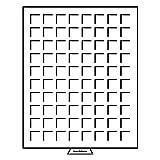 Leuchtturm 316663 MB Münzbox 24 x 24 mm | Eckige Fächer | Für 50 Euro-Cent, 1 Euro, Weimar, 1 £ (ab 2017), US Quarters, US Nickels | Rauchfarben