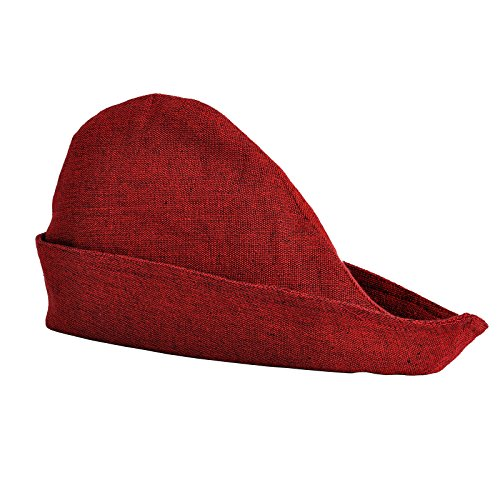 Mittelalter Damen Herren Hut Robin Hood rot Baumwolle