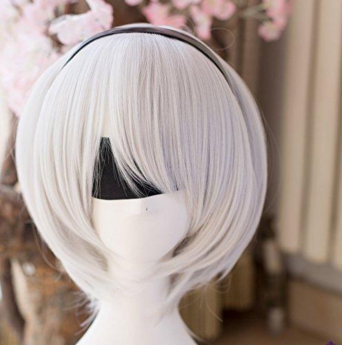 Preisvergleich Produktbild Skylynn--Spiel NieR:Automata Spielzeug Charakter YoRHa No. 2 Type B cosplay Kostüme , Mailen Sie uns Ihre Größe (Perücke)