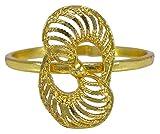 Banithani indischen Bollywood Vergoldet Adjustable Ring Traditionelle Frauen Brautschmuck