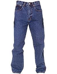 Aztec Jeans Bleu Jeans Coupe Standard Entre Jambe: 73.7cm - Pierre Délavé, Ceinture 112cm x Standard