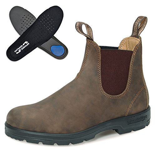 Blundstone Comfort Boots Style 585 Nubukleder | Rustic Brown | Gr. 9.0/43.0 | + Einlegesohlen