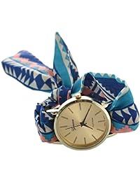 Reloj de pulsera - GENEVA Reloj de pulsera de banda de bufanda de puntos para mujeres de tipo 19