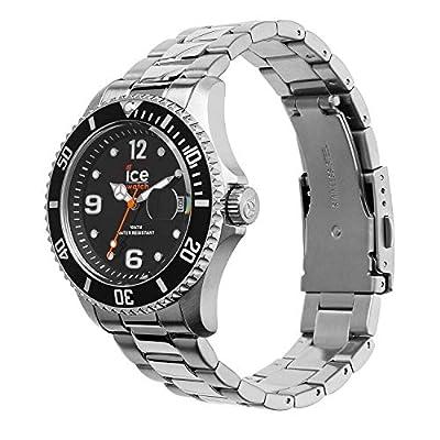 Ice-Watch - Ice Steel Black Silver - Reloj Negro para Hombre (Unisex) con Correa de Metal - 16031 (Medium) de Ice-Watch