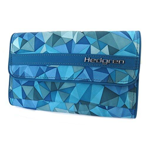 Riñonera 'Hedgren'triángulos de color turquesa - 19x12x2.5 cm.
