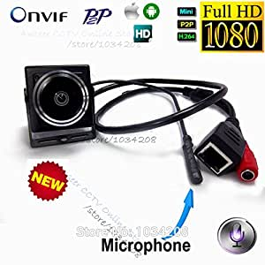SUNNY-MARCHÉ 2MP 1080P caméra IP HD Audio 1,78 mm Fisheye 180 degrés Mini Ip Cam Covert réseau ONVIF P2P Miniature caméra IP: Grand Angle, 1 / 2.8 & # 39, # 39 et,, 1 / 2.8 & # 39, # 39 & ,