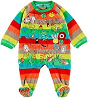 Boboli Velour Play Suit For Baby, Body Mixte Bébé, Multicolore-Mehrfarbig (Stripes 9261), 3 mois