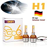 Paar LED Scheinwerfer Headlight H1 Lampe Car Auto Birne High Beam/Low Beam 6000K Weiß (Lager in Deutschland)