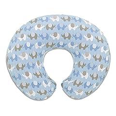 Idea Regalo - Chicco 08079904380000 Boppy Fodera Cuscino Allattamento, Elephants Blue