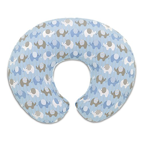 Chicco 08079904380000 Boppy Fodera Cuscino Allattamento, Elephants Blue