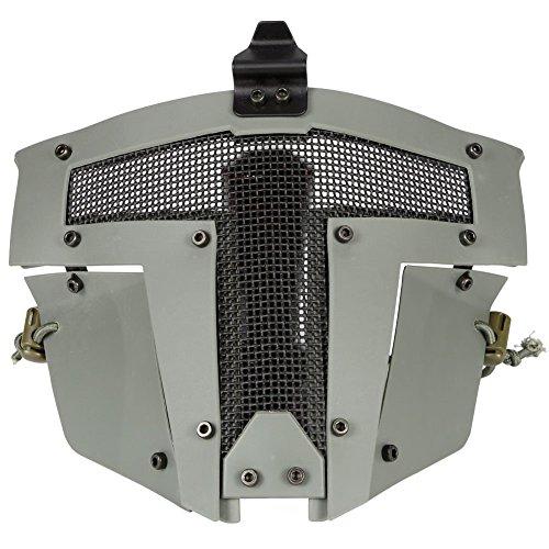 FAST AF Helm Zubehör - Günstige Airsoft Full Head Anti Fog Stahl Mesh schützende Sparta taktische Maske (Paintball Maske Full Head)