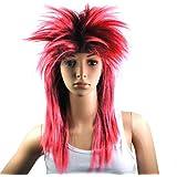 WPG Ladies Glam Punk Rocker Chick Tina Turner Carnival Wig Fancy Dress Costume