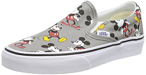 Vans Classic Slip-on, Sneaker uomo Grigio Grey (Disney - Mickey Mouse/Frost Gray) 34.5