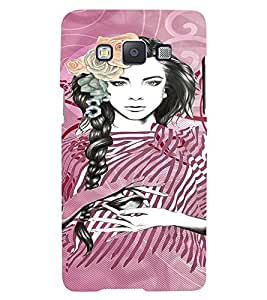 Fuson Peaceful Girl Back Case Cover for SAMSUNG GALAXY A5 - D3936