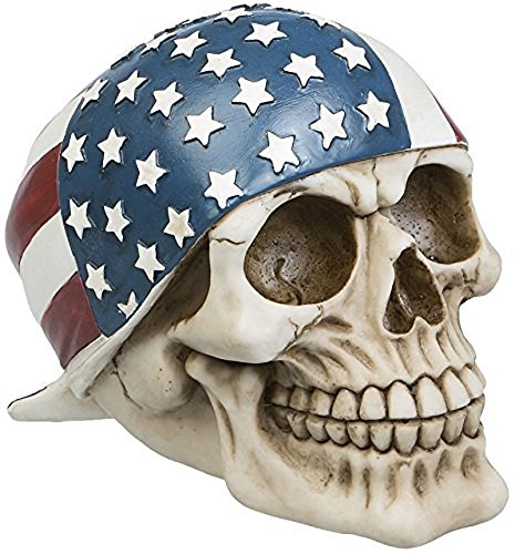 A.G.S. Deko Totenschädel Basecap USA Flagge Stars and Stripes Halloween Gothic Tattoo Hotrod Dekoration