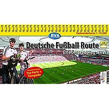 Kompakt-Spiralo BVA Deutsche Fußballroute Erlebnisradweg NRW Radwanderkarte 1:75.000