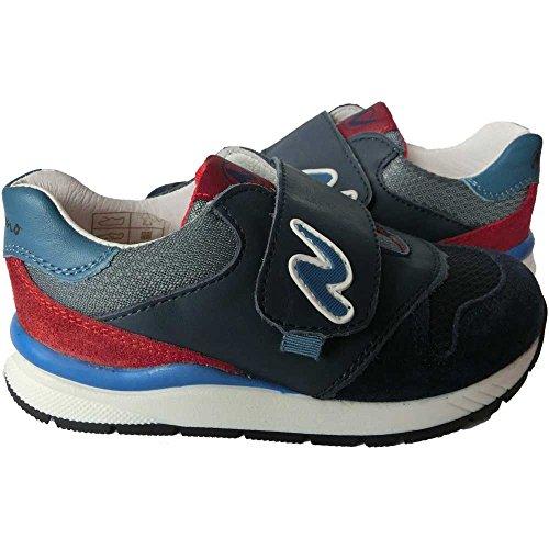 Naturino scarpe bimbo unisex 1104 - Sneaker Jonas Velour/Vitell, Navy-Multi, Blu (31)