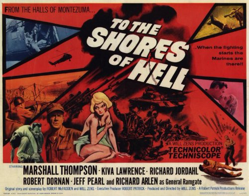To The Shores of Hell Plakat Movie Poster (11 x 14 Inches - 28cm x 36cm) (1965) D