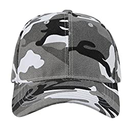 Men's Camouflage 6 Panel Baseball Hat Adjustable Snapback Trucker Cap Golf Hat Hiking Cycling Traveling Hunting Sun Hat Camo Visor Cap Summer Beach Headwear