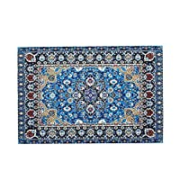 Kalaokei 1/12 Scale Miniature Turkish Woven Carpet Blanket Rug Dollhouse Accessories Toy