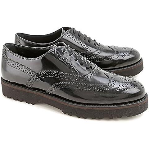 Brogues zapatos Hogan mujeres en charol negro - Número de modelo: HXW2590R321AKTB999--